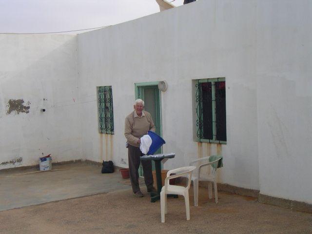 Felix Heidenstam - doing the laundry! Rooftop room, Aglou Plage, Morocco